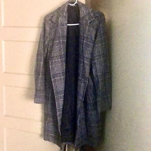 Lulus Long Plaid Coat
